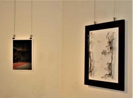 Installation view, Ioanna Sakellaraki, ' Have you passed through this night?', Renata Sinclair, 'Continental Drift'