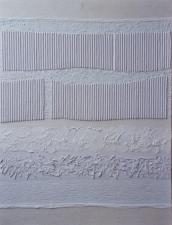 Marguerite Knight, 'White Texture', arylic and mixed media on board